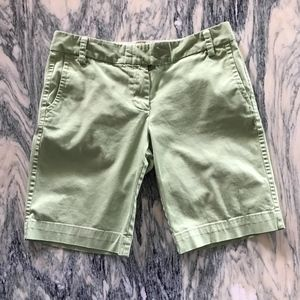 J. Crew Lime Green City Fit Chino Shorts Size 4